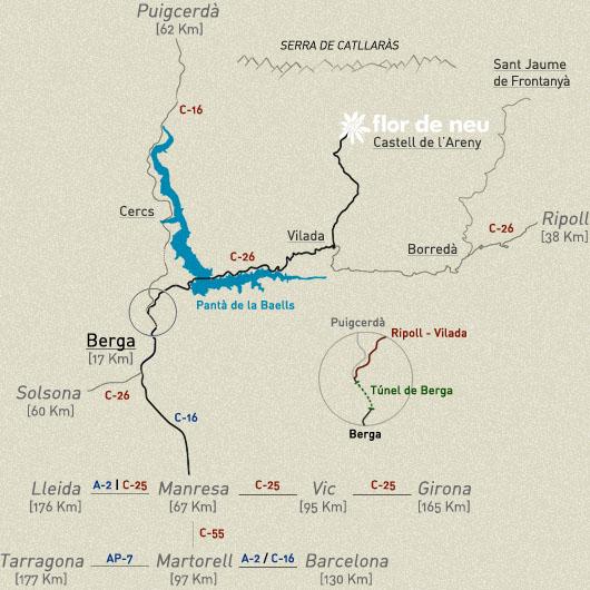 Com arribar a Castell de l'Areny?